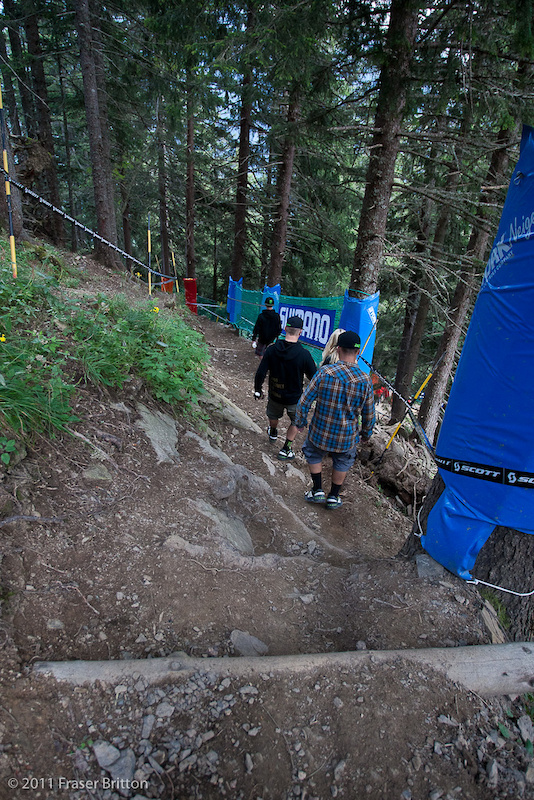 As soon as riders get past the hip they dive into some tight single track and stay there pretty much for the next 3.5 minutes.