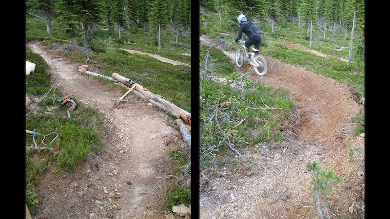 We fixed a few berms to improve the flow on the new Training Wheels rebuild.