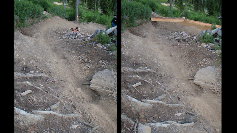 Fixing a berm with its lip blown off.