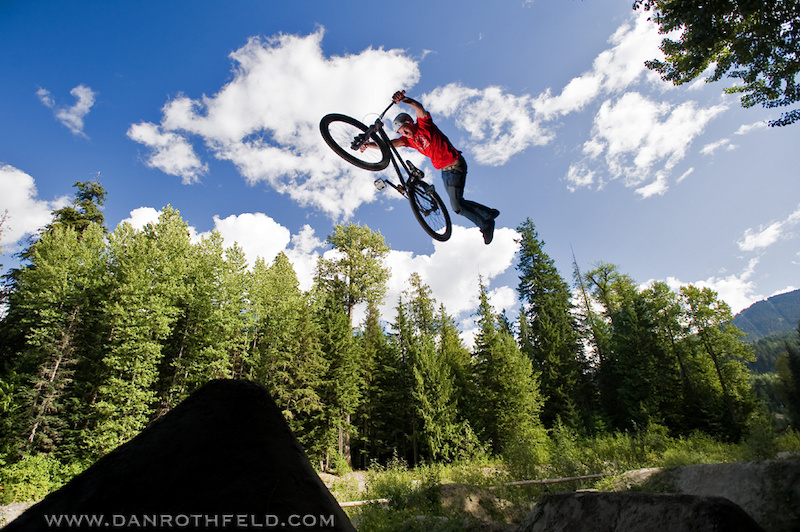 Took a day off from riding to shoot some locals at the dirtjumps in whistler village