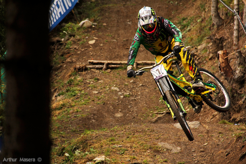 Sam Hill was back for the world champs after his crash 1 month and half ago.