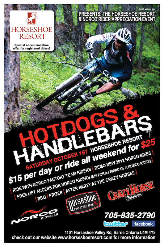 Hotdogs and Handlebars Oct 1st 2011 Rider Appreciation Day with Norco Bikes