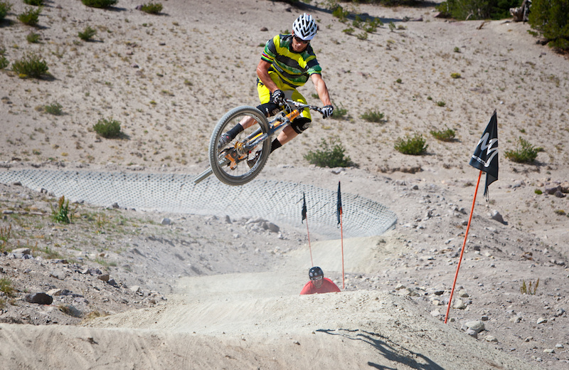 Lopes testing out Recoil the newest trail at Mammoth.