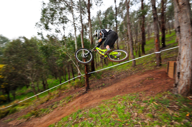 Final drop on Patto's Curse in the rain. Landed it smoothly, straight up on the back wheel all the way to the line. Just wish I'd kept shooting!!! 1 of 2