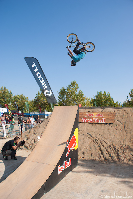 Barrerol 1 at the bmx dirt competition.