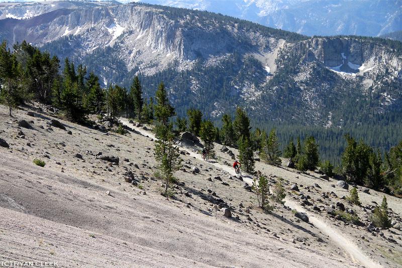 XC trail on Mammoth Mtn