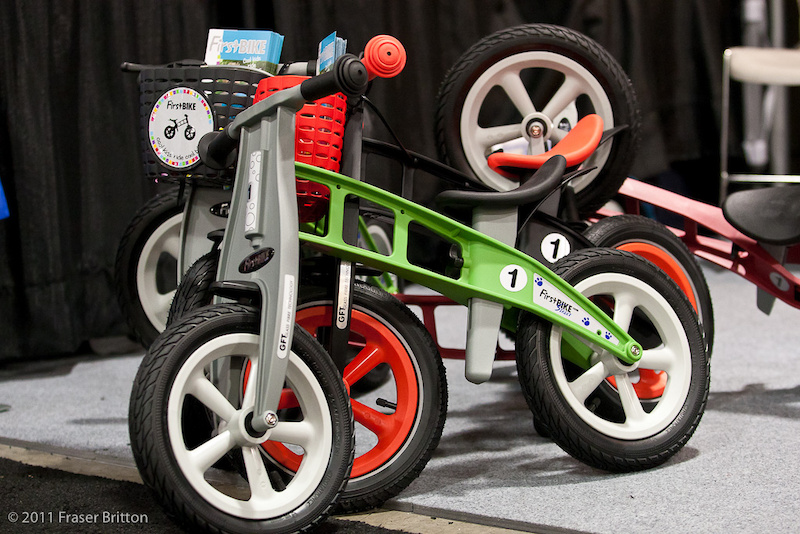 Very cool adjustable kids bikes. All plastic and they can be yours for a minimum purchase of 10 000 units in Taiwan alley.