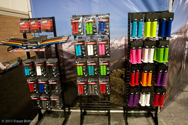 Colors are in for 2011. ODI was showing off a massive selection of grip color choices in every model. An easy way to add a bit of color to your ride.