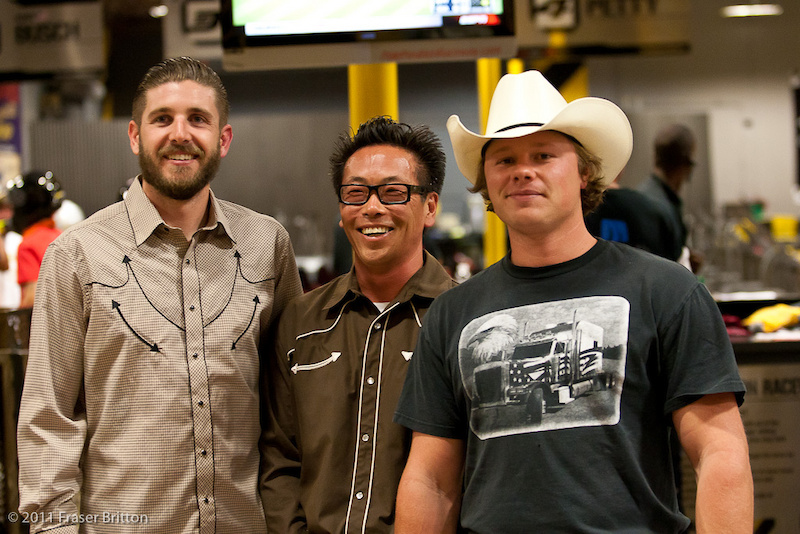 SDG s Chris Han and Kyle Strait - detour to the Go Kart track on their way to ride mechanical bulls at the country bar.