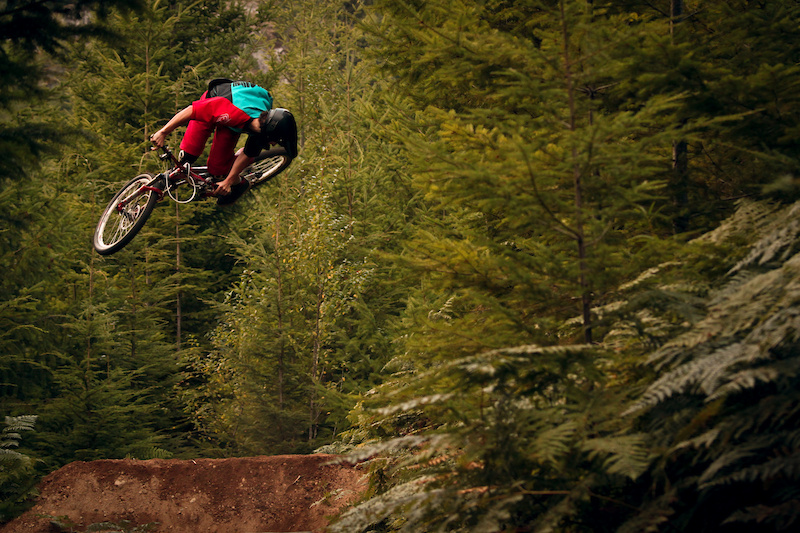 Dew man tearing it up on the slope bike