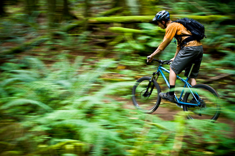 Cruising through the forest aboard the Chromag Aperture
