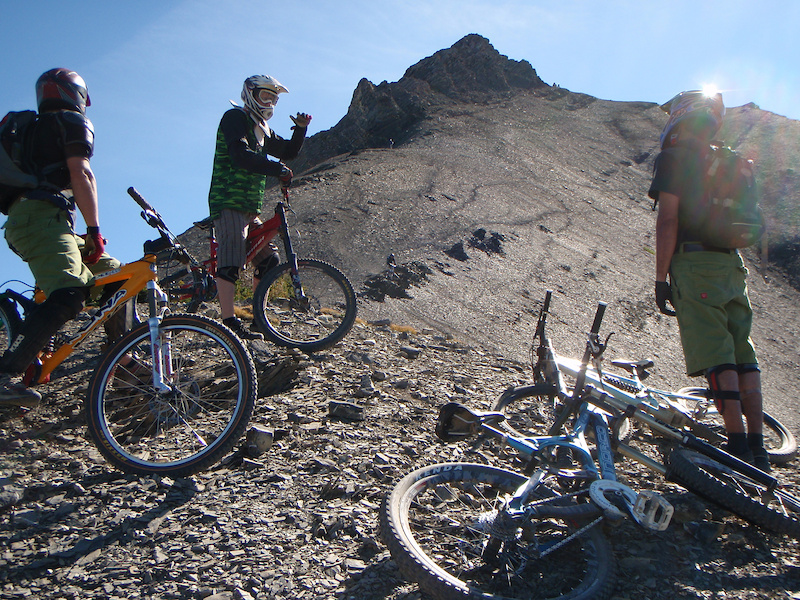 Annual year ender to the top of Mount 7. Check out Aaron s sweet air in the middle.
