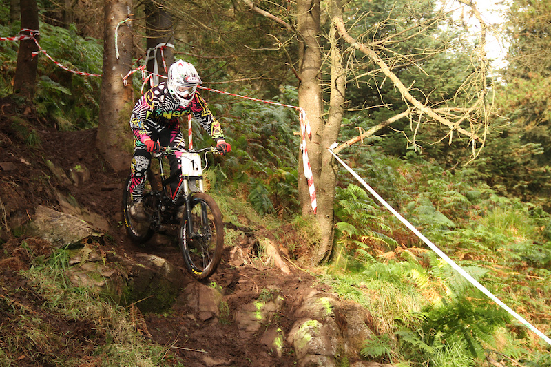 Adam Brayton soaking up the rock garden with full speed