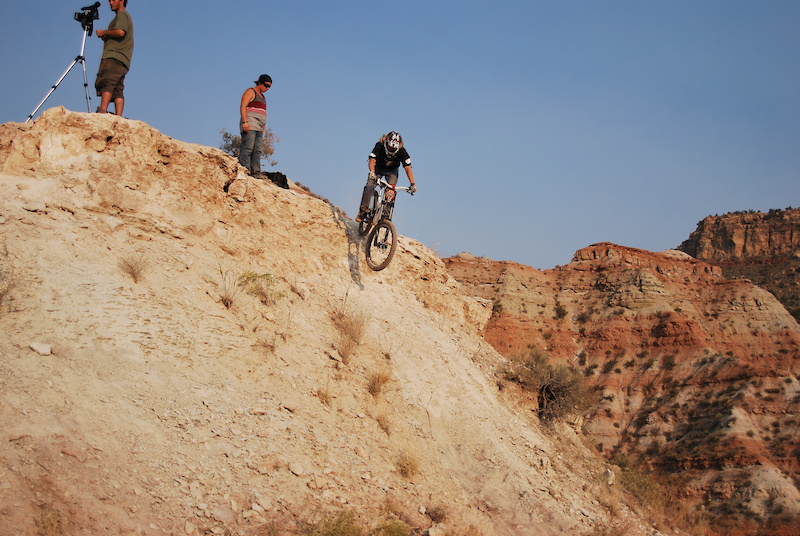 Rolling into my trail at rampage 2010