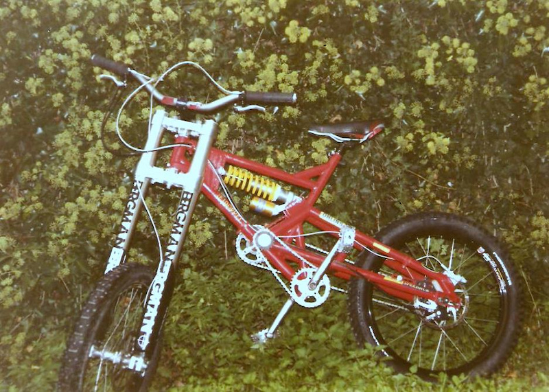 Die Parts an dem Bike wahren nur zum DROP und nicht f r DOWNHILL. 400 hinten 300 vorne.