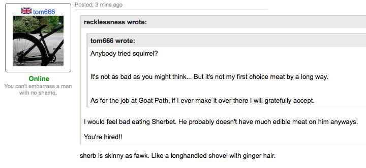 "LOLOLOL @ ""Like a longhandled shovel with ginger hair!!!!"""