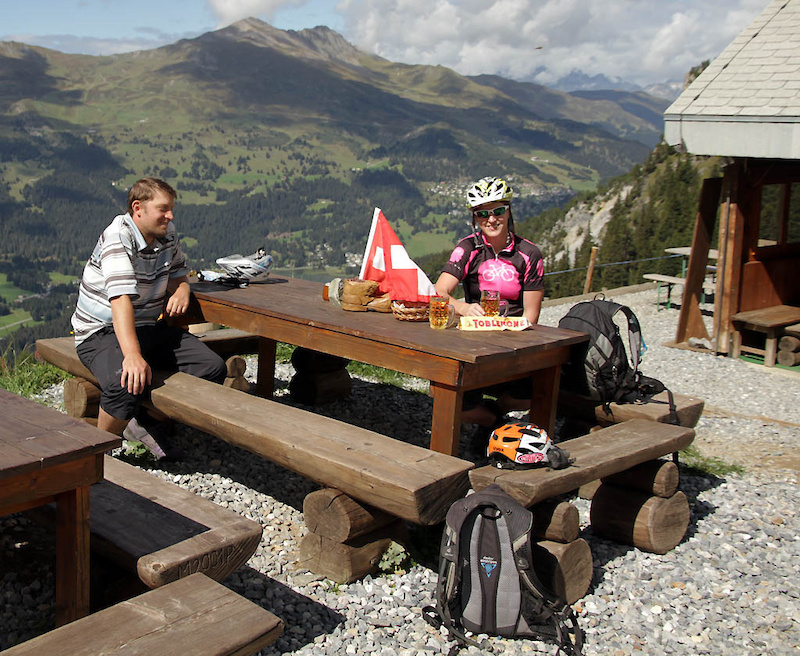 Chilling at 2100m above the town of Lenzerheide Post