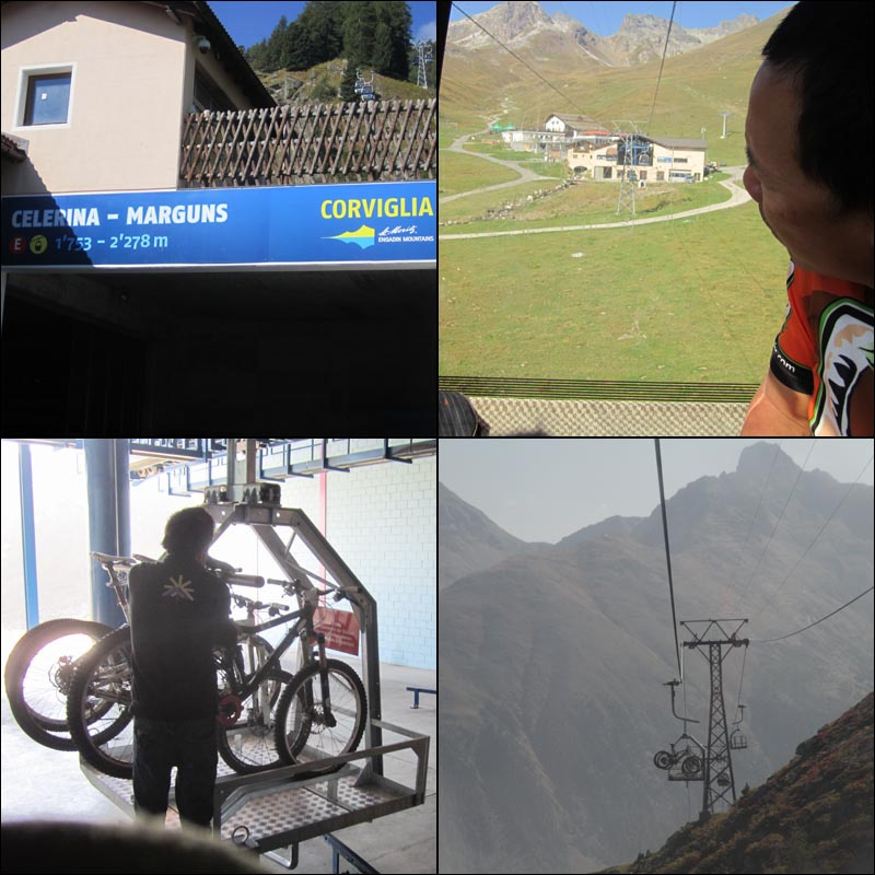 The Marguns lift accesses lots of riding including the wonderful Suvretta Pass loop