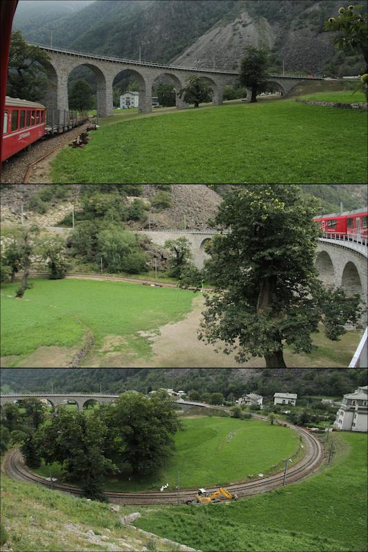 Those Swiss Engineered spiral rail bridges on the Rhaetische Bahn