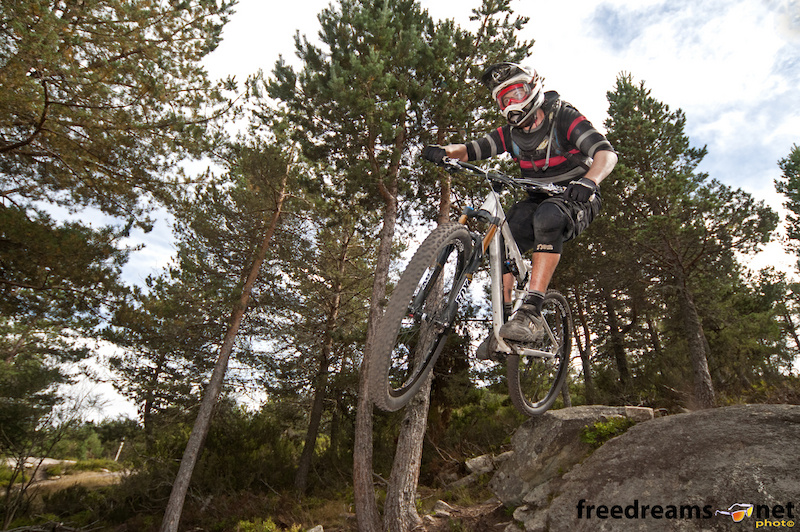 Sam Burkhard testing the new 29er prototype