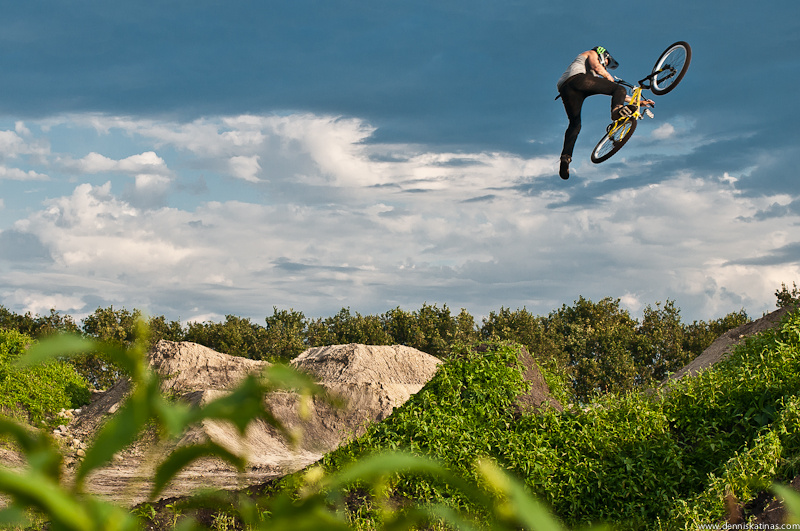 Jeremy ripping his new trails and having fun.