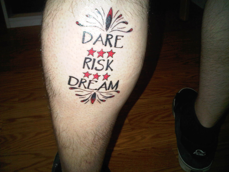 New tat on the back of my leg.