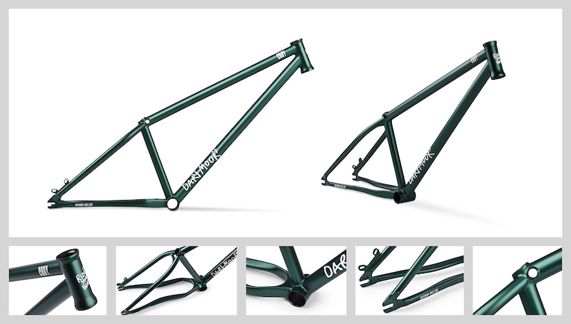 Dartmoor Cody II MTB DJ street frame designed for 26 wheels. Fully heat treated after welding with hydroformed chainstay. Now with new smaller dropouts and new TT butting making it stronger than before. 2.15kg.