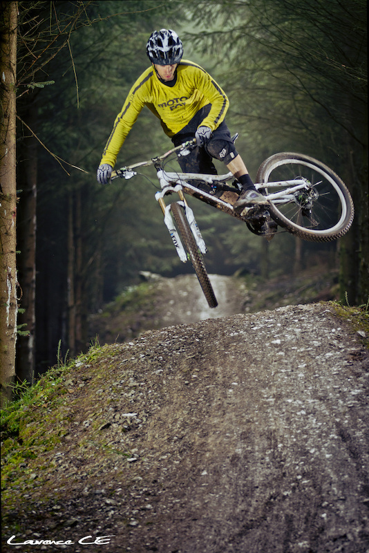 Donny getting some sly scrubby whips out. New trails are going down a treat - Laurence CE - www.laurence-ce.com