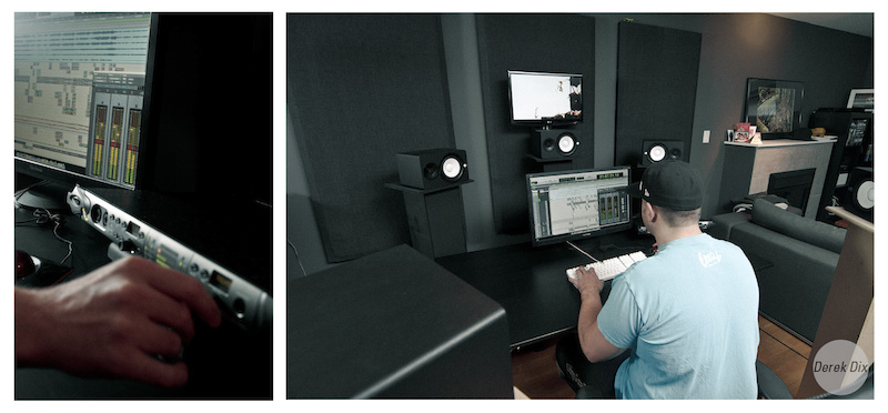 I n the studio mastering the fine craft of audio.