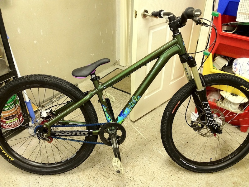 Kona Five-o deluxe custom build 14inch frame 2009 pikes hayes stroker trail rear and ryde front with 8inch rotor