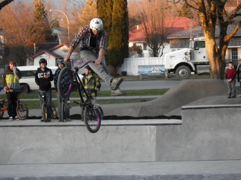 riding the new park