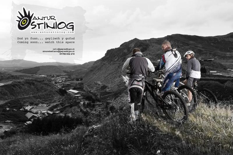 The new bike park in Blaenau-Ffestiniog opening this year.