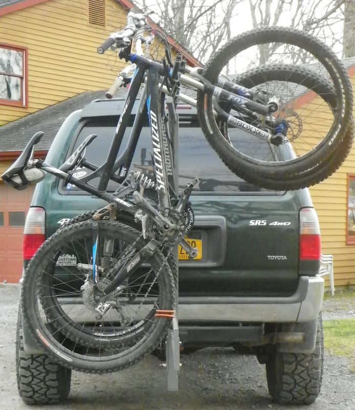 Home made bike rack