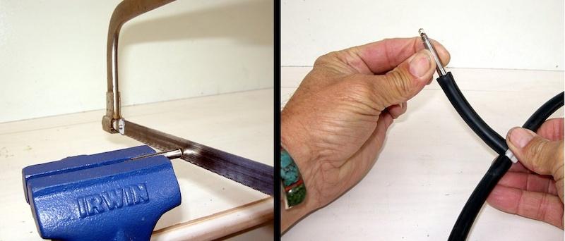 Cut and install Presta valve