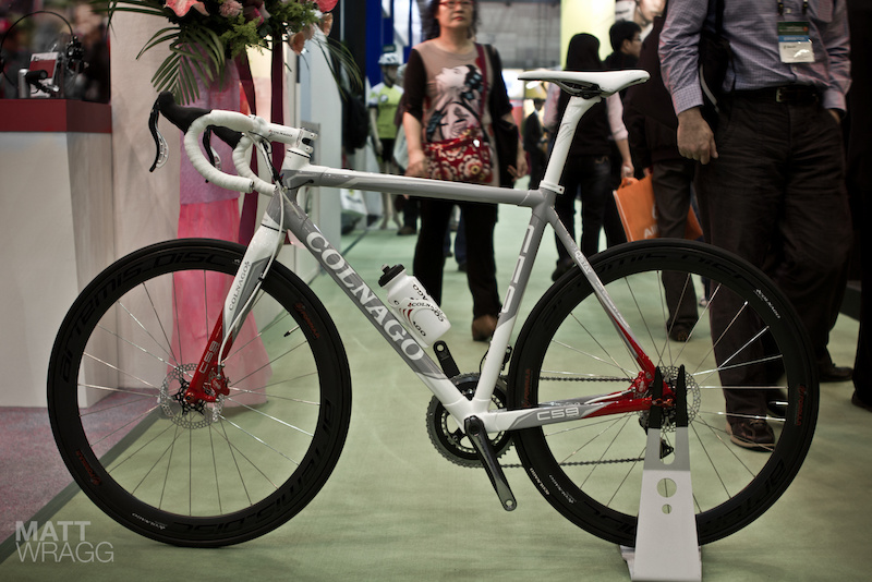 Formula disk brakes on Colnago road bike - Taipei Cycle Show 2012