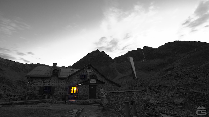 Dawn at the hut.