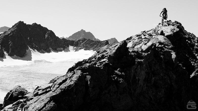 Alpine mountain biking above 3000m.
