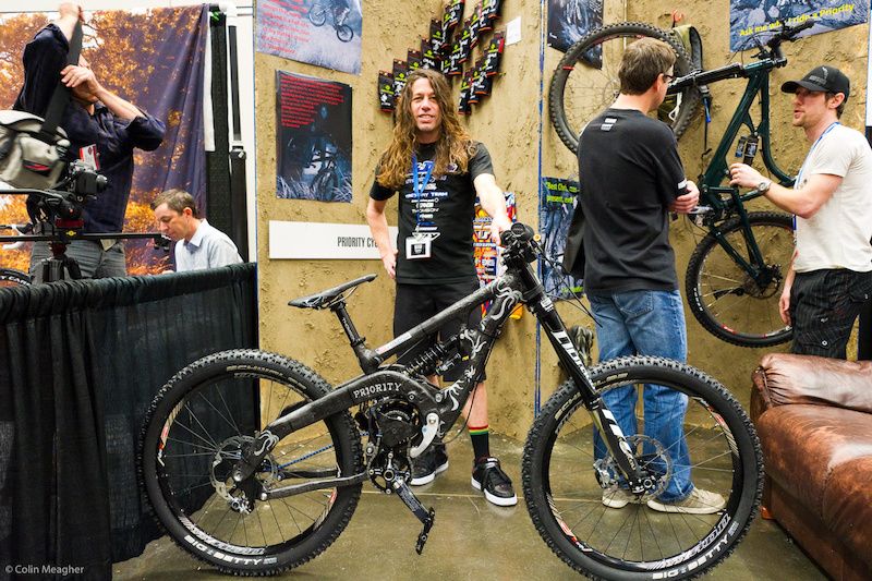 Priority was on hand with a hand laid up carbon framed belt driven gear box design bike to be piloted by Jerry Vanderpool at Sea Otter.