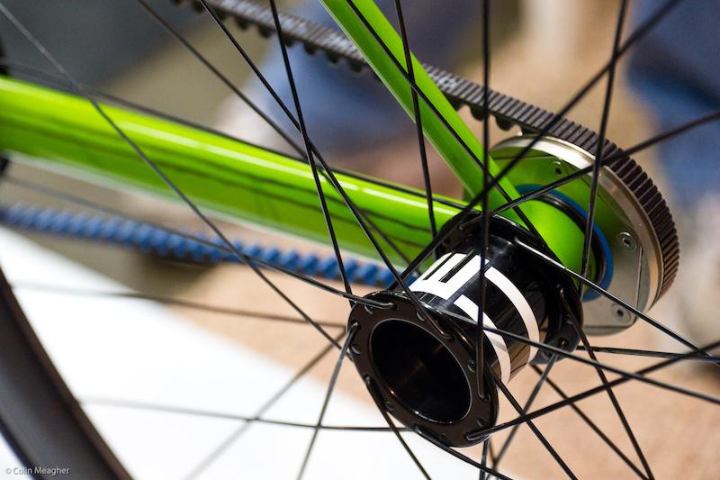 Hub design on the one sided English bike.