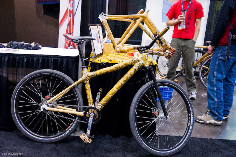 bamboo bike with henna ink inspired graphics.