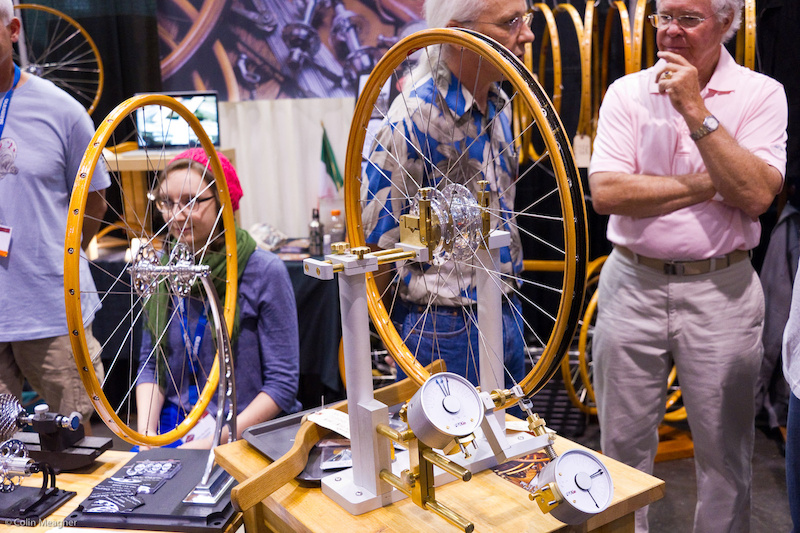 wooden bicycle wheels are manufactured in the Ghisallo Pass in Northern Italy.