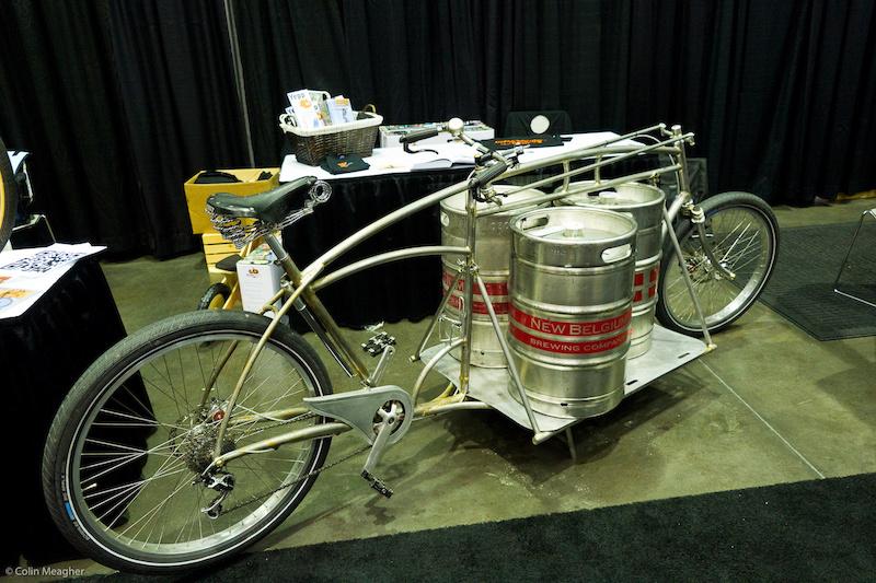 Beer keg transportation bike from My Dutch Bike.