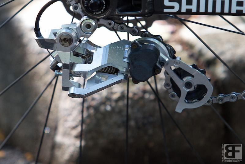 Shimano derailleur prototype hand made.