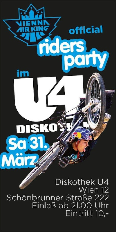 Vienna Air King 2012 rider s party poster