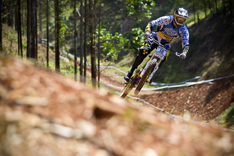 First Day of practice for CRC Nukeproof at the 2012 World Cup DH in South Africa