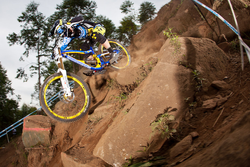Team CRC Nukeproof during qualifying for the 2012 UCI World Cup in Pietermaritzburg