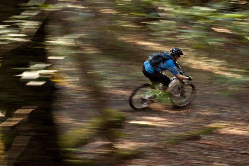 Mike riding in Santa Cruz
