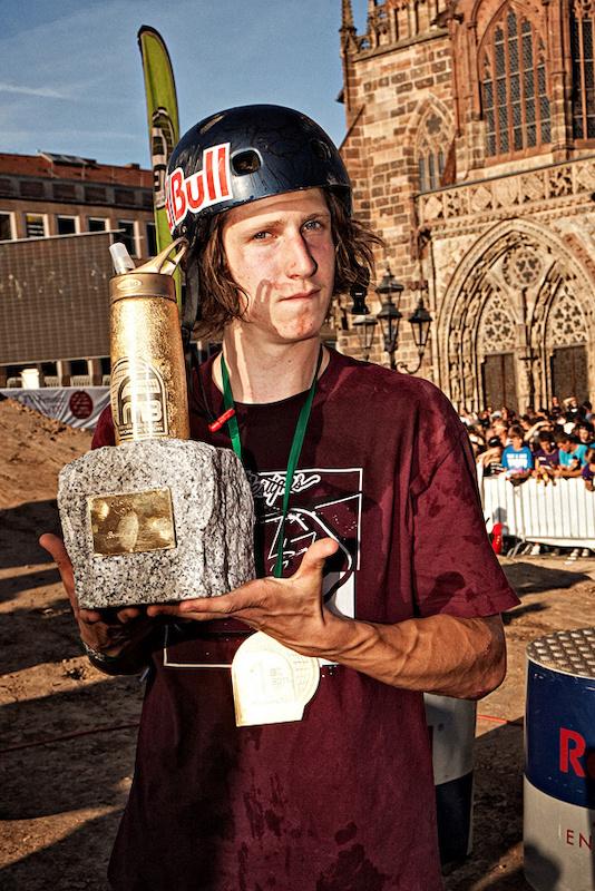 One FMB World Tour Champion one golden trophy the Golden CamelBak Better Bottle