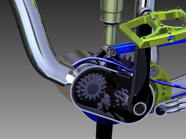 All Mountain Gearbox Frame design