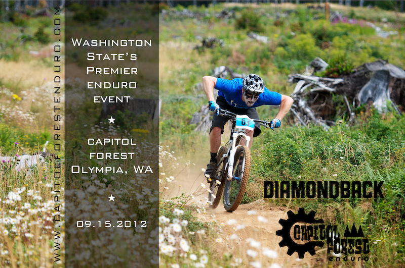 Taken during the Capitol Forest Classic Super D this trail is part of the course for the Capitol Forest Enduro www.capitolforestenduro.com